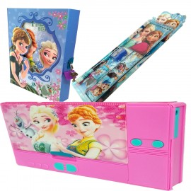 TECHNOCHITRA Value Combo with Angel Printed Jumbo Size Pencil Box, Lock diary  and Stationery Set
