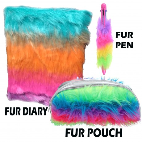 TECHNOCHITRA Amazing value Saver Fur Designer gift Set with Fur Pouch, Fur Diary and Fur Pen