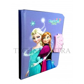TECHNOCHITRA Frozen Printed Lock Diary with Pen, Frozen printed Number Lock Diary for Girls
