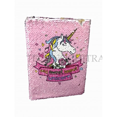 TECHNOCHITRA Exclusive Color Changing Unicorn Sequence Diary for Girls, Unicorn Diary for Kids