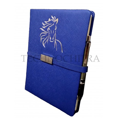 TECHNOCHITRA Exclusive Magnetic Closure Unicorn Embossed Diary with Pen