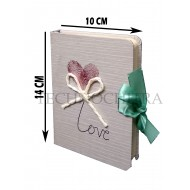 TECHNOCHITRA Unique Heart Printed Small Size Diary Gift Set with thread lock