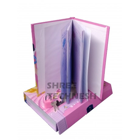 TECHNOCHITRA Value Combo with Angel Printed Jumbo Size Pencil Box, Lock diary  and Pencil Set