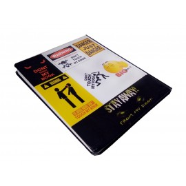 "TECHNOCHITRA Exclusive ""Do not Touch my Diary"" Quote Printed Diary Notebook"