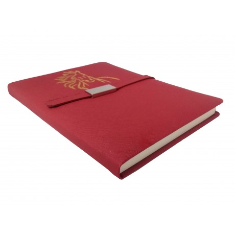 TECHNOCHITRA Exclusive Magnetic Closure Unicorn Embossed Diary Red with Pen