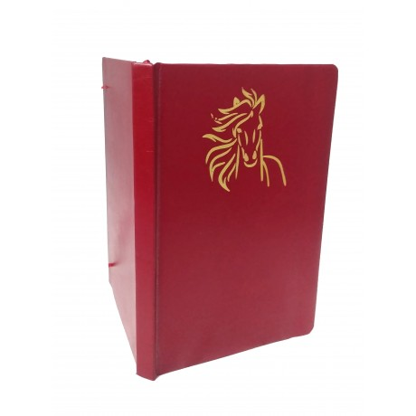 TECHNOCHITRA Unicorn Embossed Office Diary with  Elastic Band Closure, Red