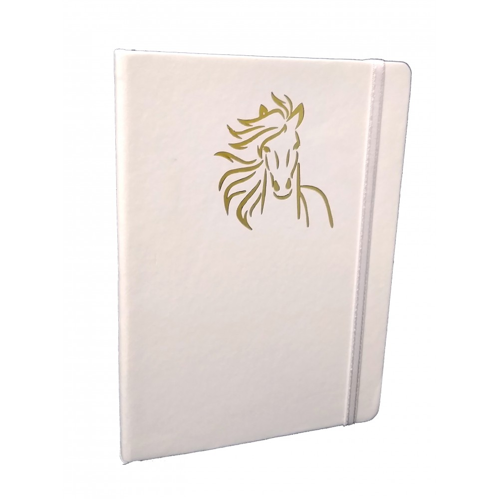 TECHNOCHITRA Unicorn Embossed Office Diary with  Elastic Band Closure, White
