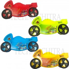 TECHNOCHITRA Sports Bike Shape Pencil Box  with movable wheels for Kids