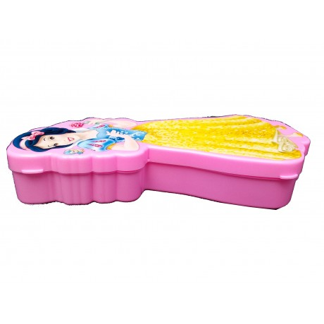 TECHNOCHITRA Angel Printed Dual Space Plastic Pencil Box with Pencil & Eraser| Pink| Used for Return Gifts | MOQ-2
