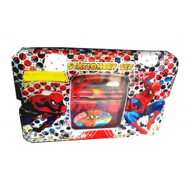 TECHNOCHITRA Web Spider 3D Printed Metal Pencil Box with Stationery Set, Return Gift