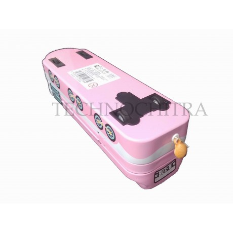TECHNOCHITRA Train Shape Metal Pencil Box with movable wheels for Girls
