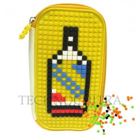 TECHNOCHITRA Puzzle Make Pencil Pouch for kids, Zipper Pencil Pouch for Kids, Yellow
