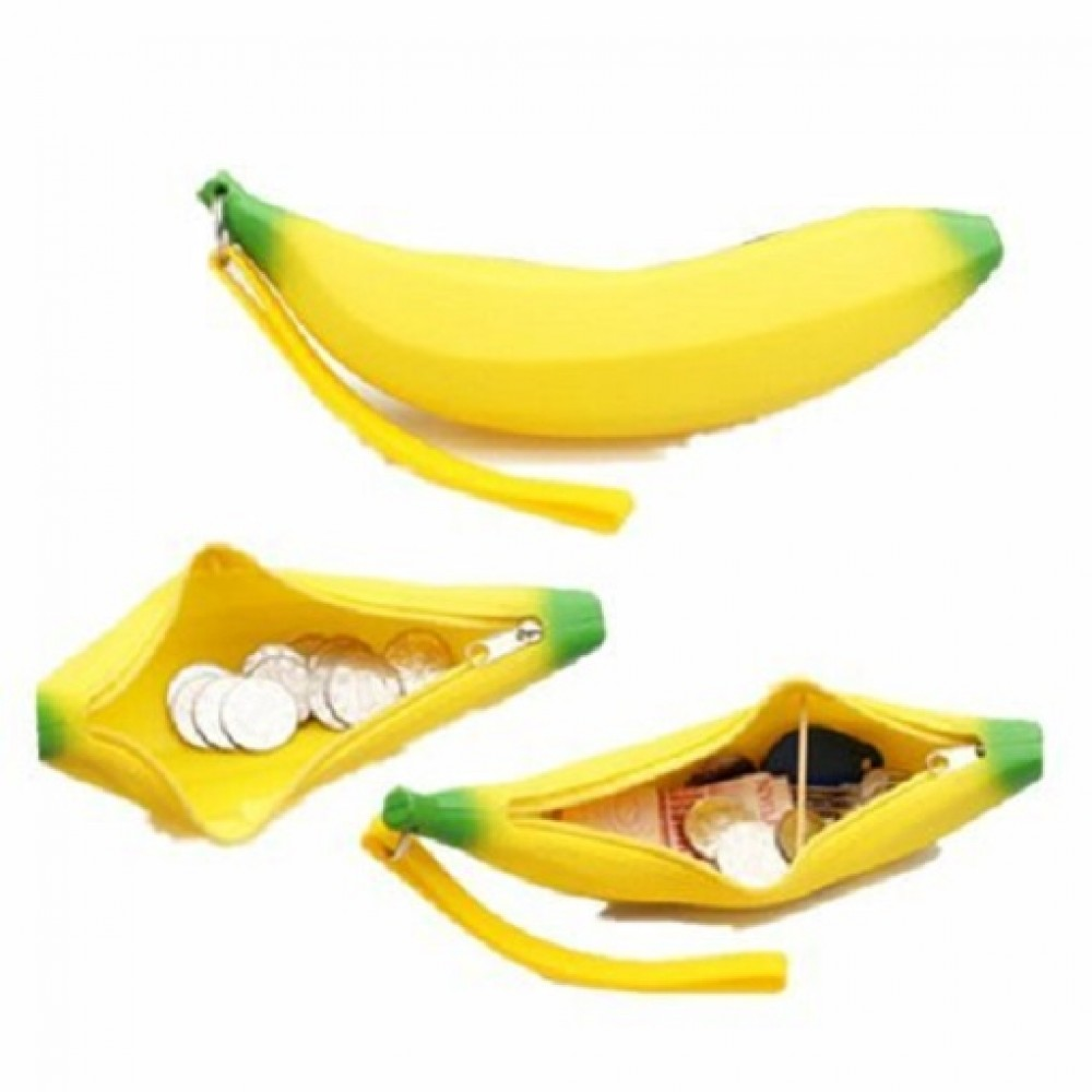 TECHNOCHITRA Silicon Made Banana Shape Pouch for Kids and Return Gifts, (MOQ-3)