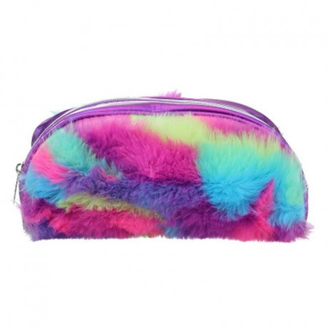 TECHNOCHITRA Exclusive Multi Color Fur Pouch, Ziper fur pouch for girls and Kids