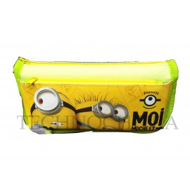 TECHNOCHITRA Set of Minion printed Zipper Pouch with Minion Key chain, Color may vary