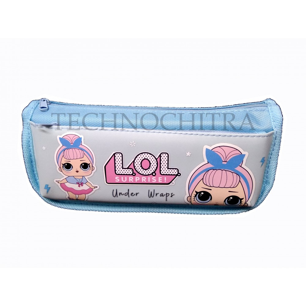 TECHNOCHITRA LOL Printed Angel Zipper Pouch for Girls, LOL Pouches for Girls, Blue