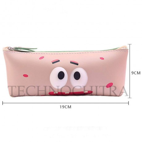TECHNOCHITRA Silicon Flexible Stationery 7D Eyes Pouch for Kids, Zipper Pouch for kids (MOQ-3)