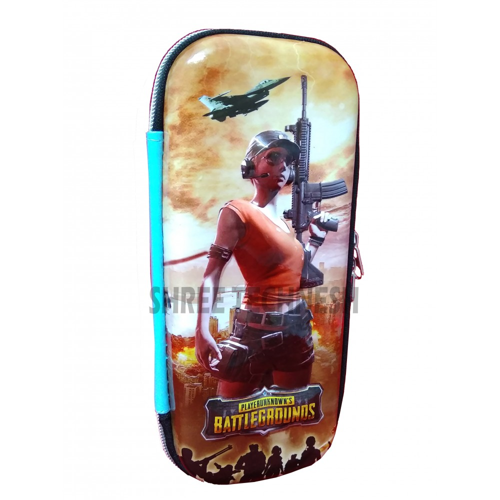 TECHNOCHITRA 7D PubG Characters Printed Pouches, PubG Printed Zipper Pouches, PubG stationery Pouches, Shooter Girl