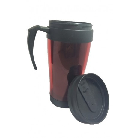 Red Sports Mug With Cap - 01