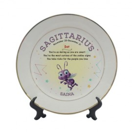 TECHNOCHITRA 3D CERAMIC PLATE WITH STAND AND BACK HANDLE SIZE 8 INCH
