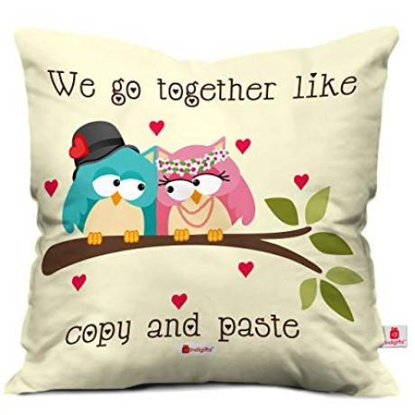 TECHNOCHITRA  PACK OF 2 PERSONALIZED CUSHION COVER SIZE 30*30 CM