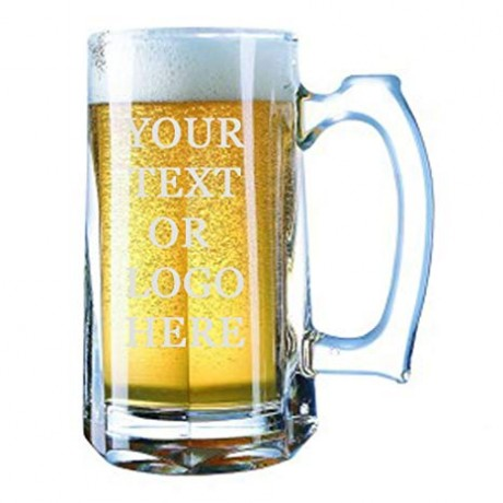 TECHNOCHITRA PERSONALIZED GLASS BEER MUG 450 ML