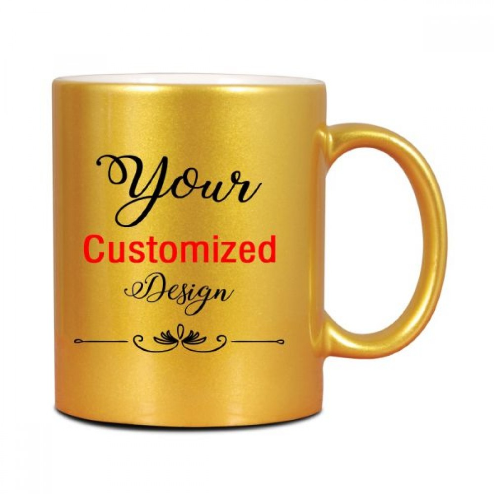 TECHNOCHITRA PERSONALISED GOLDEN MUG 330 ML
