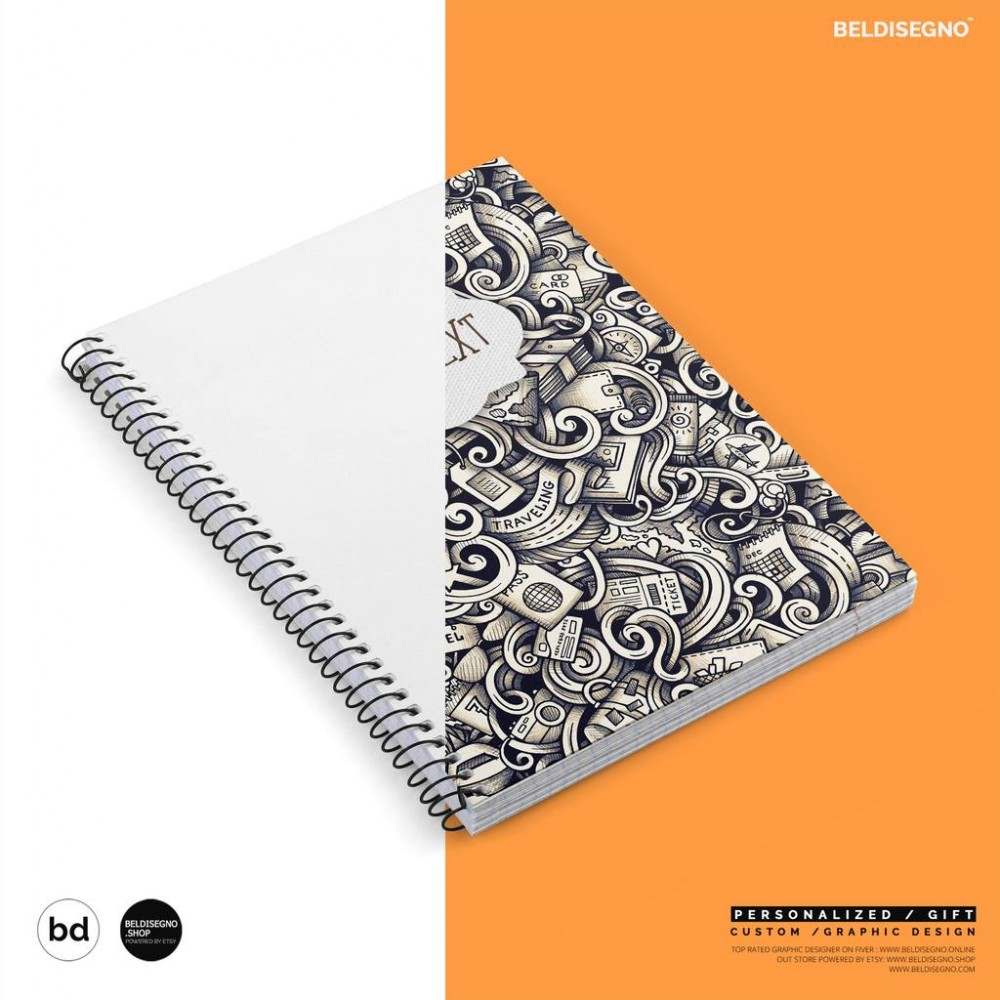 TECHNOCHITRA A5 PERSONALIZED SPIRAL DIARY BOTH SIDE PRINTING (100 PLUS PAGES)