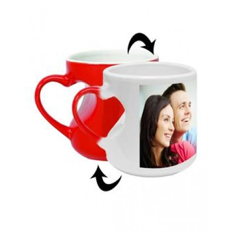 TECHNOCHITRA Exclusive Valentine Gift combo with Personalized Red Magic Love Coffee Mug, Cute Couple Teddy and Personalized Key Ring.