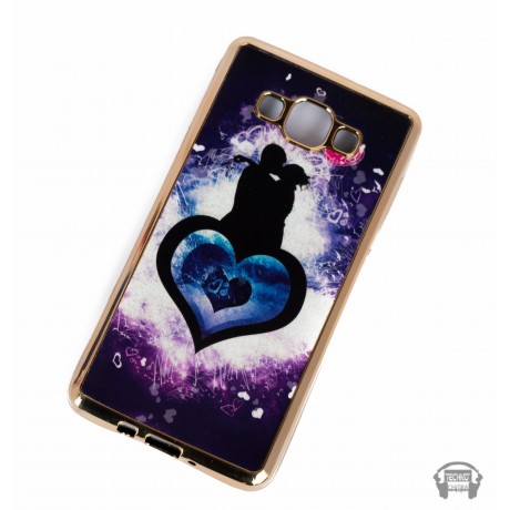 Heart design Flexible Thin cover for Samsung A7