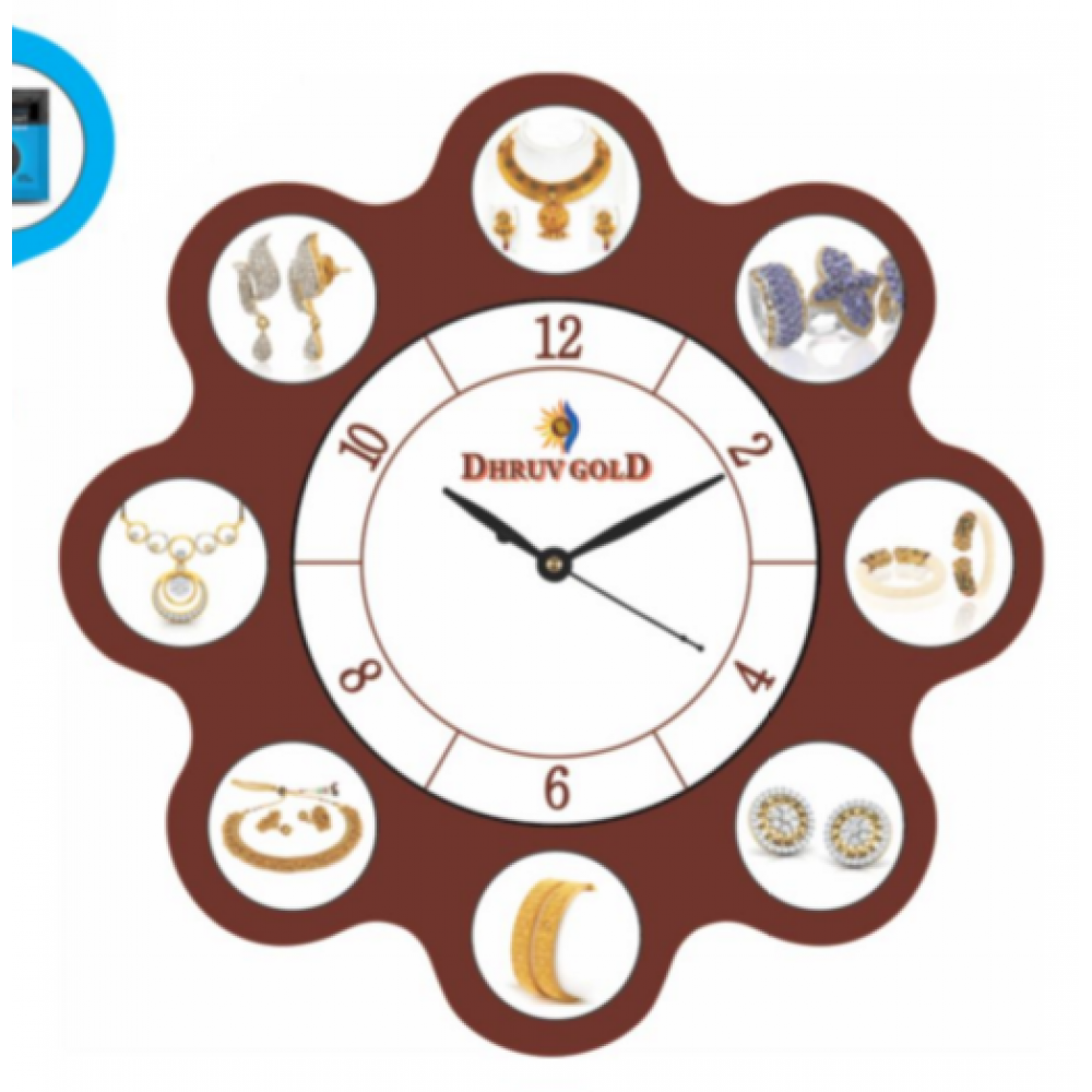 Big Round Collarge Design Wall Clock - 14