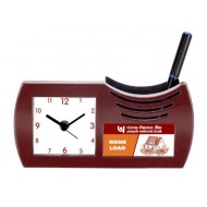 Table Clock Cum Pen Stand - 16