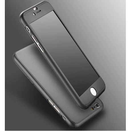 BOUNCEBACK SHOCKPROOF 360 DEGREE MATTE FINISH SOFT FOR APPLE IPHONE 7 - BLACK