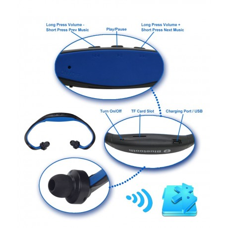 Sports mp3 player supportable Bluetooth