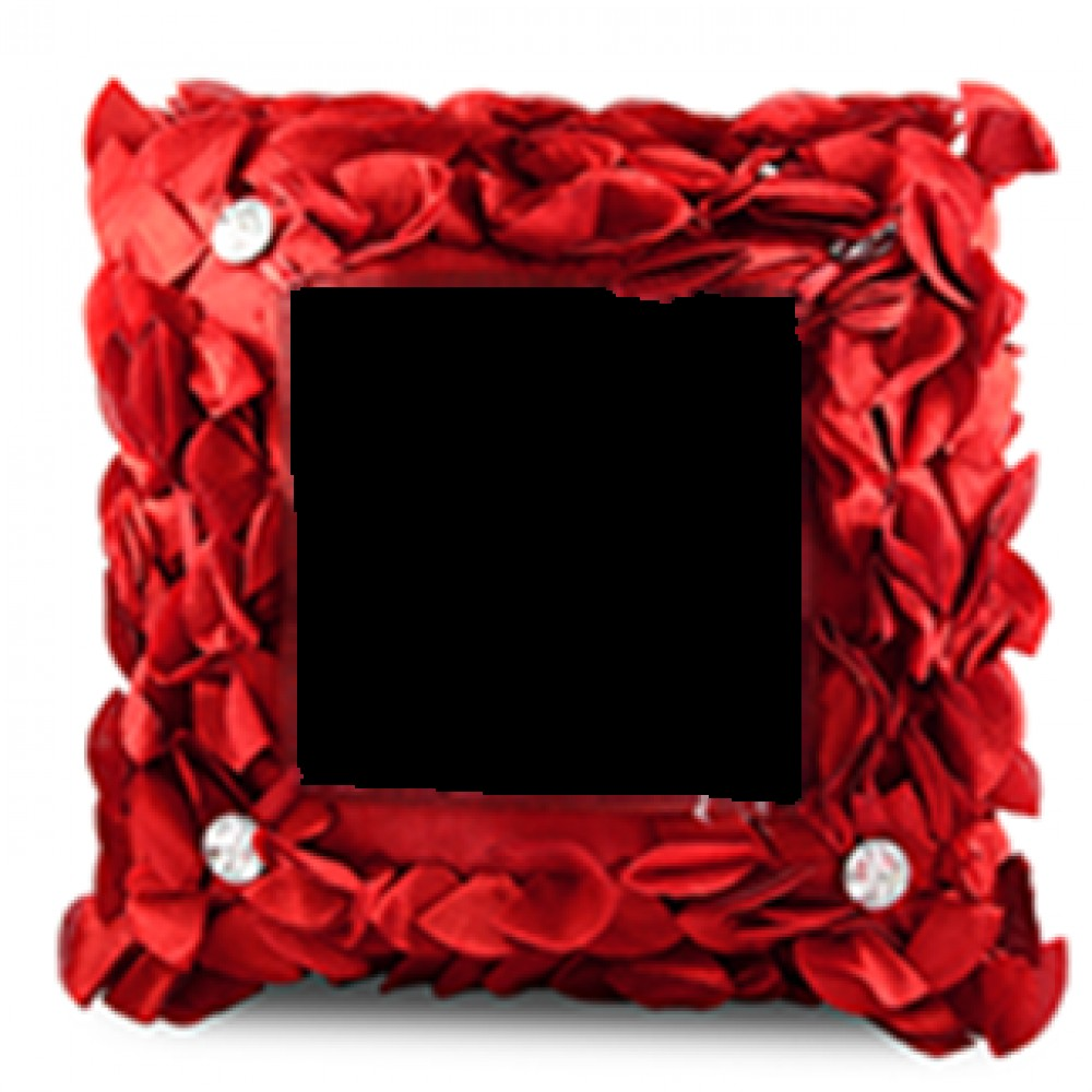 Square Shape Cushion with Diamond Petals